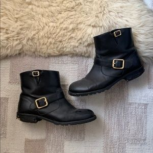 MARC BY MARC JACOBS LEATHER BOOTIES / SIZE 38.5